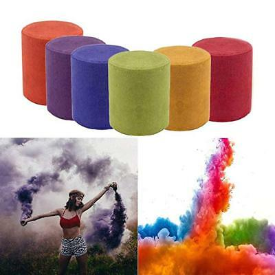 5x Colorful Smoke Cake Show Smoke Effect Round Bomb Stage Photography Party Toy