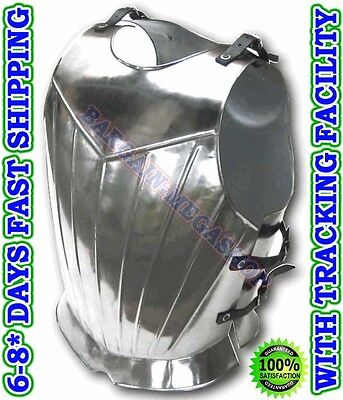 Gothic Breastplate Armor Medieval Knight Crusader Costume Steel Armour sba61