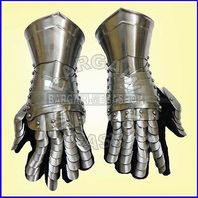 Medieval Knight Armour Gloves Warrior Gauntlets Combat Gauntlet Metal Hand a30