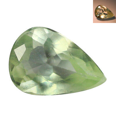 0.39Ct Elegant Pear cut 6 x 4 mm Green To Red Color Change Alexandrite