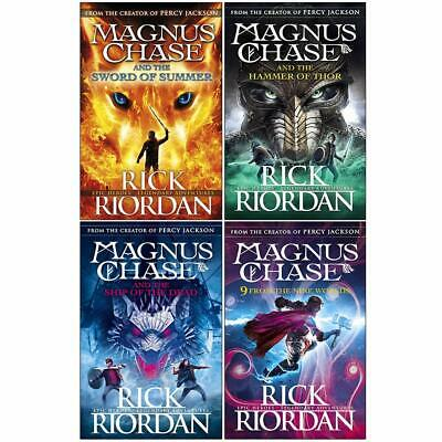 Rick Riordan Collection 4 Books Set Sword of Summer and 9 From the Nine Worlds