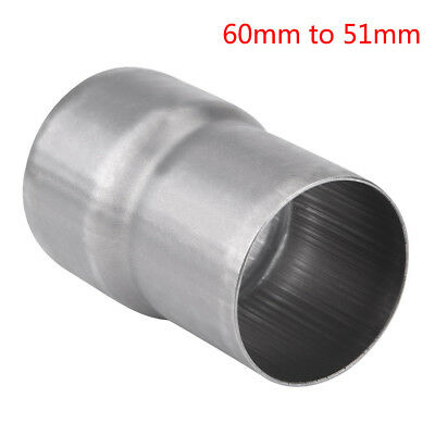 MOTORCYCLE EXHAUST PIPE Adapter Reducer Connector Pipe Fits for 60mm