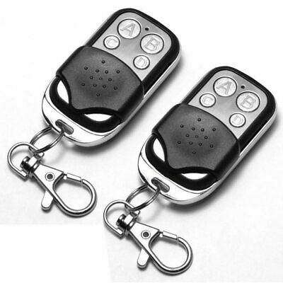 2X Universal Replacement Garage Door Car Gate Cloning Remote Control Key Fob 433