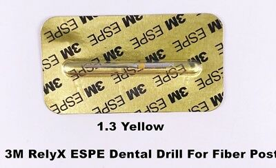 1Pcs 3M RelyX ESPE Dental Drills For Dental Fiber Post 1.3mm-Yellow High Quality