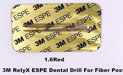 1Pcs 3M RelyX ESPE Dental Drills For Dental Fiber Post 1.6mm-Red High Quality