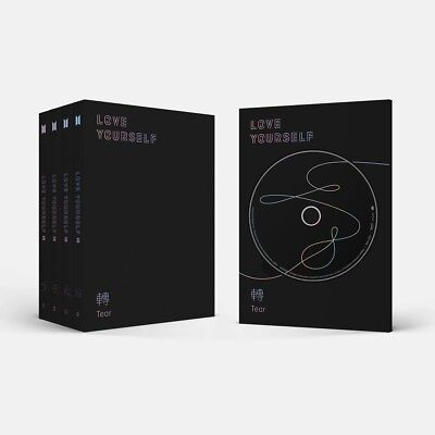 BTS [LOVE YOURSELF 轉 TEAR] 3rd Album 4Ver SET 4CD+8Book+4Card+4Photo+GIFT SEALED