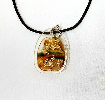 New Magic! Twin Wasp Oil  Holy, Lucky business, Wealth Rich Thai Amulet Pendant