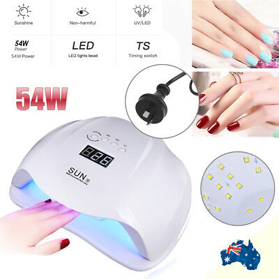 SUNX 54W UV LED Nail Lamp Dryer for Gel Polish Curing Art Nail Light Kit AU PLUG
