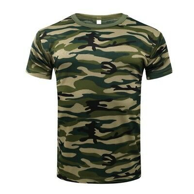 171aced0 Men Camo Short Sleeve T-Shirt Military Tee Army Camouflage Tactical Tops  Blouse