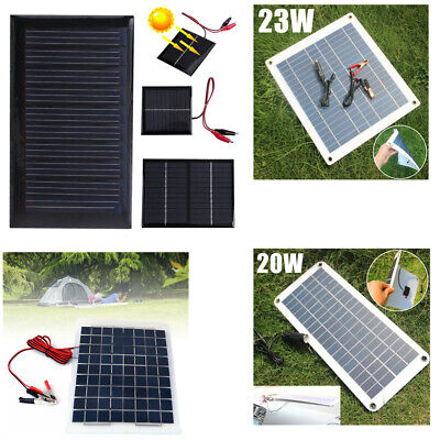 3/5W 5/12/18V Solar Car Boat Power Solar Panel Battery Charger for Multi Purpose
