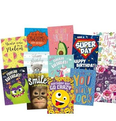 WHOLESALE GREETINGS & BIRTHDAY CARDS X 120 £9.99 ALL NEW with ENVELOPES JOB lot