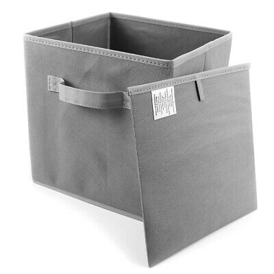 Foldable Canvas Storage Box Collapsible Fabric Cube Rectangular Bedroom Office
