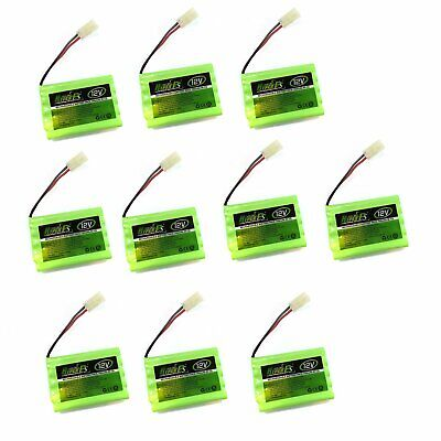10x 12V 700mAh NI-CD  Tamiya Plug Rechargeable Battery Pack HyperPS