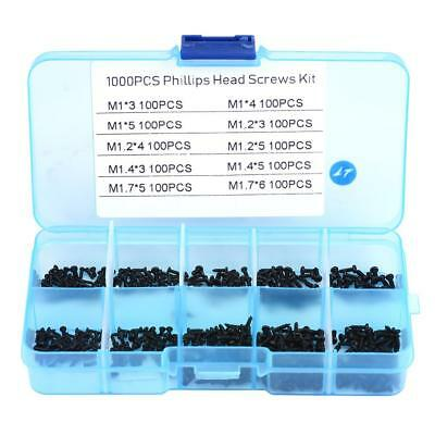 1000 Micro Screws Round Head Self-tapping Small Phillips Cross Bolts Wood Screw