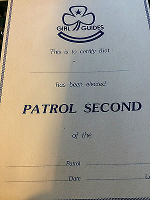 Girl Guides / Scouts Patrol Second Certificate