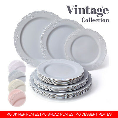 225 & BULK 120 PC PARTY DISPOSABLE DINNERWARE PLATE SET for ...