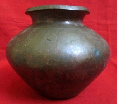 Vintage Collectible Hand Forged Water Pot Hammered Copper Water Pot Rich Patina