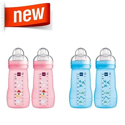 MAM Easy Active Baby Bottle 270ml 2pk (NEW DESIGNS)