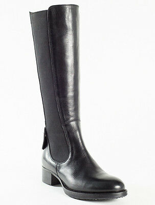 38b0f9c21d55 NEW FEMME BLACK Leather Boots Size 38 US 8 -  312.00   PicClick