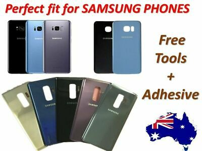 Samsung Galaxy S8 S7 S9 S6 Note 5 8  Back Rear Glass Housing Battery Cover Case