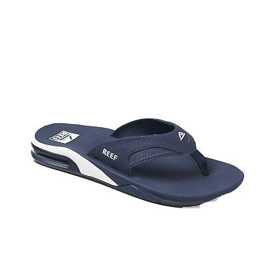 Reef Smoothy Navy Blue Rubber Logo Thong Sandals Slides