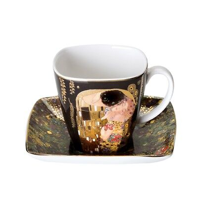 "Goebel Artis Orbis Gustav Klimt Espresso Cup M. Lower "" the Kiss "" Mocha Cup"