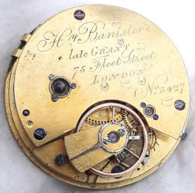 Fleet st. LONDON Fusee movement. Repair. *DIAMOND ENDSTONE*