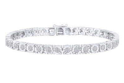 1/4 CTTW Diamond Tennis Bracelet in Sterling Silver