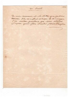 Charles X / Document Autographe / 1823 / Restauration / Louis Xviii
