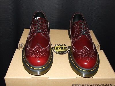 Dr.Martens 3989 5-Eyelet Cherry Unisex Casual Oxford Shoes Vegan Leather