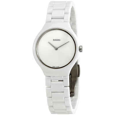 b532b586bf8 RADO TRUE THINLINE White Dial White Ceramic Ladies Watch R27958022 ...