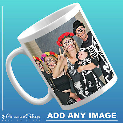 Personalised Photo Mug Text Logo Custom Design