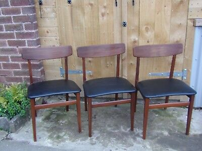 Swell 3 X Retro Black Vinyl Dining Chairs Set Vintage 60S 70S Gmtry Best Dining Table And Chair Ideas Images Gmtryco
