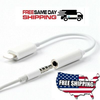 New For Apple Lightning to AUX 3.5 mm  Headphone Jack Adapter iPhone 7 Plus 8 X