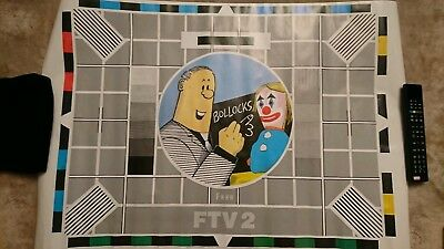 Rare Athena International 1991 Viz Roger Mellie Testcard Poster Mint