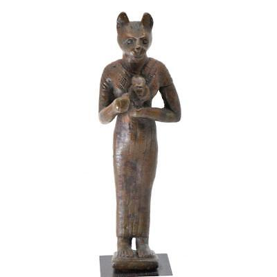 An Egyptian Bronze Figure of Bastet, 21st Dynasty, ca. 1069 - 945 BC