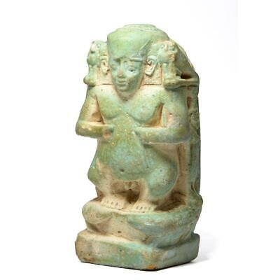 An Egyptian Faience Cippus, Late Period ca. 664-332 BCE