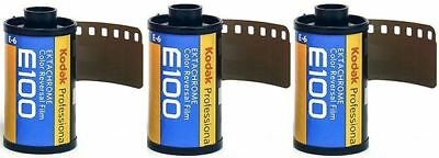 3x Kodak E100G 135-36 Ektachrome Professional Color Slide (Transparency) Film