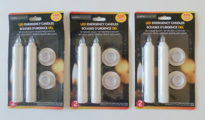 Luminessence Flameless LED Emergency Candles; Lot of (3) 2-ct. Packs (6 Candles)