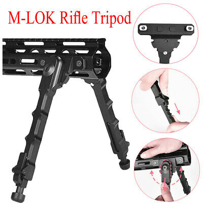 "7.5-9"" M-LOK Rifle Bipod Adjustable For MLOK Handguard Hunting f/ Gun Aluminum"