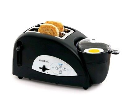 West Bend 2-Slice Egg And Muffin Toaster Breakfast Sandwich Maker