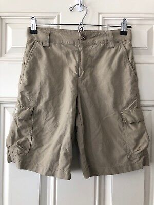 Boys Under Armour Shorts Youth Large L Beige Outdoor Hiking Casual