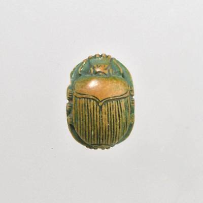 An Egyptian Glazed Steatite Scarab, Late Period, 664 - 332 BC