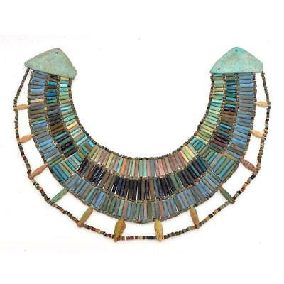 A rare Egyptian Faience Broad Collar Necklace, Late Old Kingdom, ca. 2345–2181