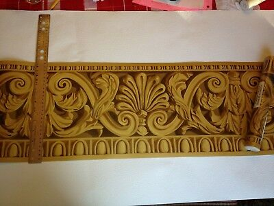 Ornate Crown Molding Gold Prepasted Wallpaper Border Nc093101