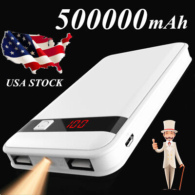 Power Bank 500000mAh Portable External Battery Charger For iPhone SAMSUNG Tablet