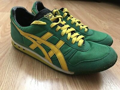 watch b9283 208fe ASICS ONITSUKA TIGER Ultimate 81 Men's Shoes Size 9 Green Yellow Running  D123N