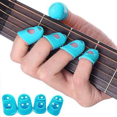 4 Finger Picks Protector Plectrum Thumb Fingertip Cover for Bass Ukulele Guitar