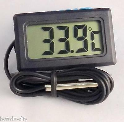 Digital LCD Waterproof Fish Aquarium Water Tank Temperature Thermometer Meter US