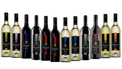 Mixed McGuigan Black Label Wine Pack - Big Brand Special 12x750ml Free Delivery
